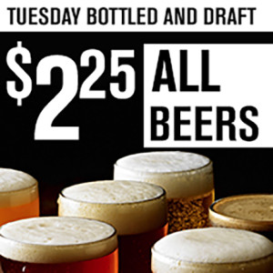 $2.25 Beers Tuesday LARGE 459